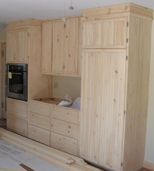 Wall oven and pantry from armstrong carpentry in bridgton for Armstrong kitchen cabinets reviews