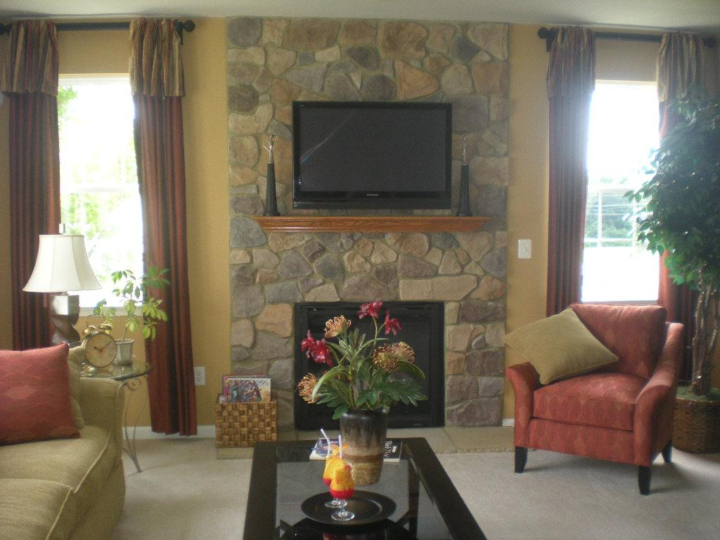 living room model from house to home in ellicott city md 21042