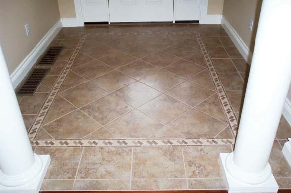 Picture: bordered entry provided by Phoneix tile installation ...