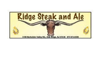 Steak & Ale - Oak Ridge, NJ