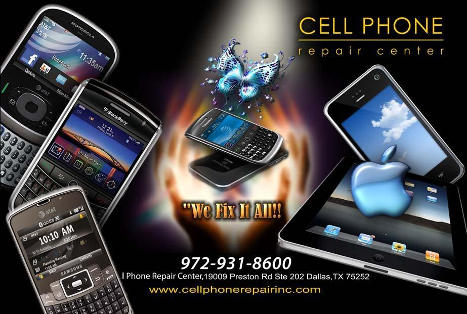 Pictures for cell phone repair dallas in dallas tx 75252 for Phone repair business card