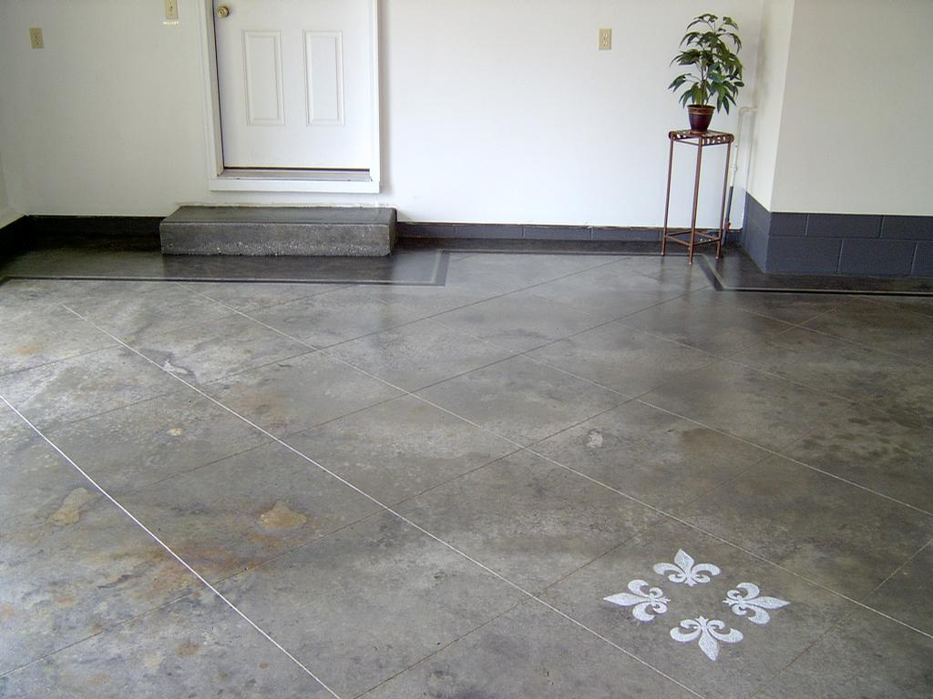 Pictures for design a crete decorative concrete in for Best product to clean concrete garage floor