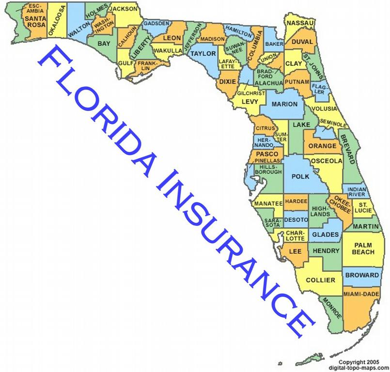 Apopka Florida Map.Florida County Map 3 From Hunt Club Insurance Financial Group In