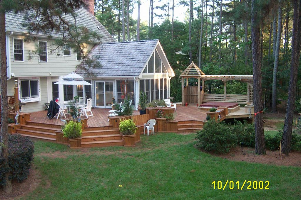 Multi Level Deck Sunroom From Creative Design Builders Inc In Raleigh Nc 27609