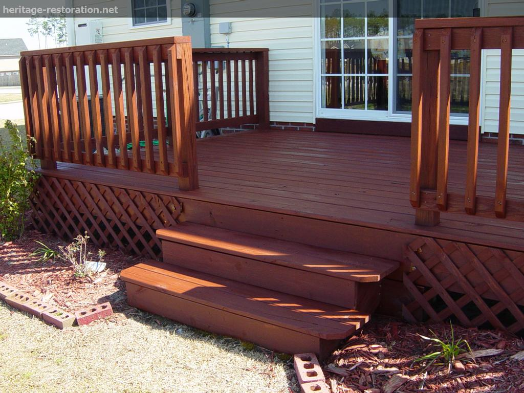 Stained Deck By Heritage Restoration