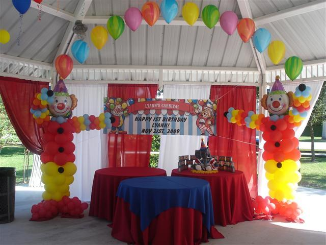 Circus theme decoration from premiere party rental in for Decoration carnaval