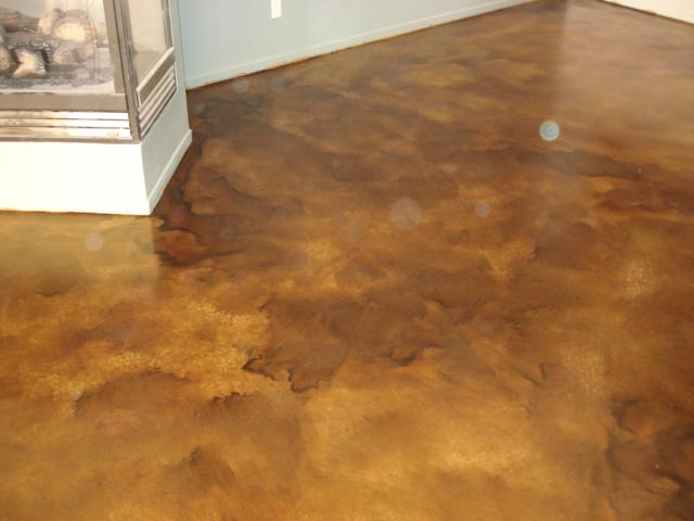 Decorative concrete flooring services concrete acid for Concrete flooring service