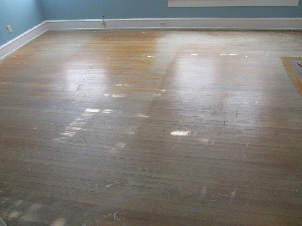 Green hardwood floor refinishing