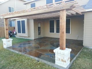 Flagstone patio construction austin yard builder 512 350 Flagstone patios colleyville tx