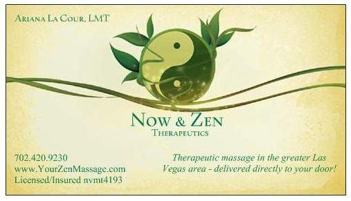 New business card from now and zen massage therapy in las vegas nv by now and zen massage therapy colourmoves