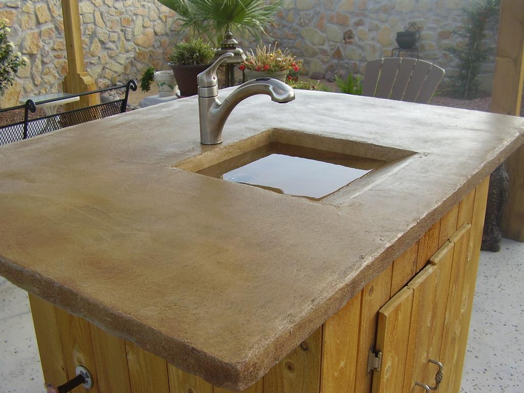 Outdoor sink from Southwest Granicrete in Las Cruces, NM 88011