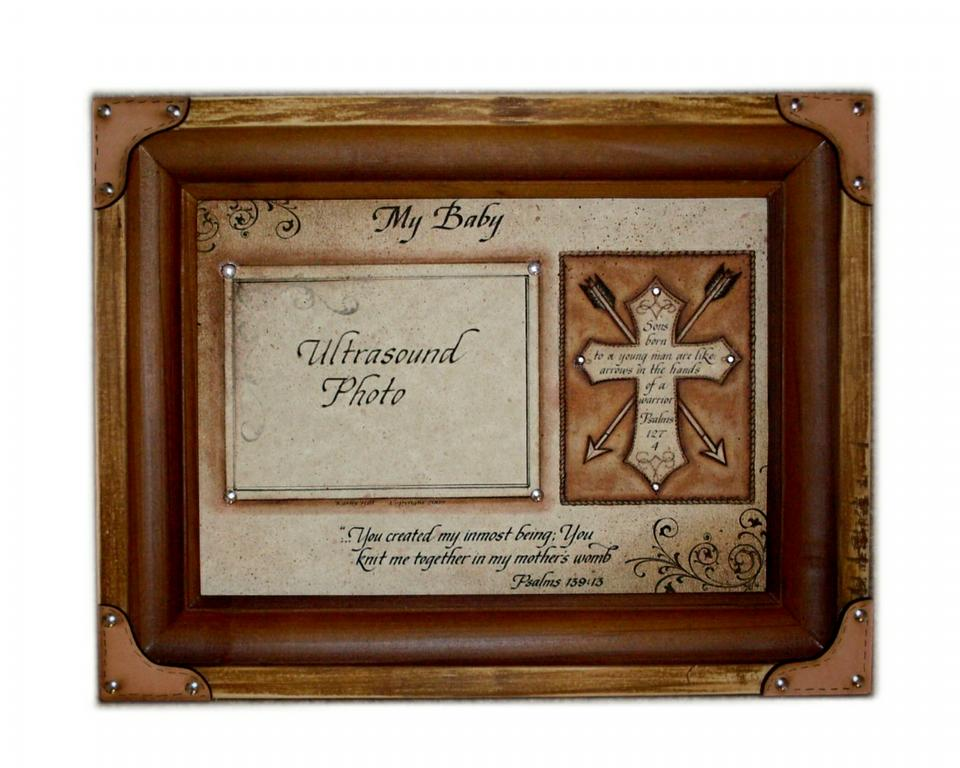 My Baby Western Sonogram Pic Frame from Crazy Horse Home Decor and