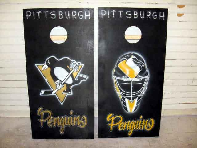 custom airbrushed cornhole gameboards by iPaint Airbrush Studio
