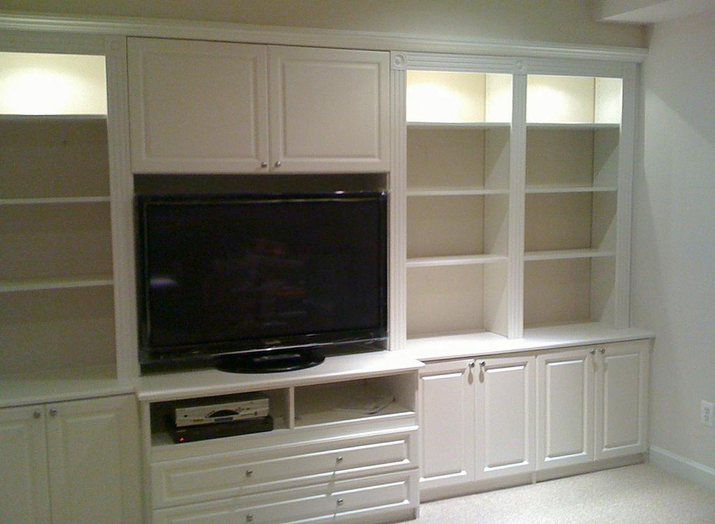 Entertainment Center White Fairfax Virginia From Built In