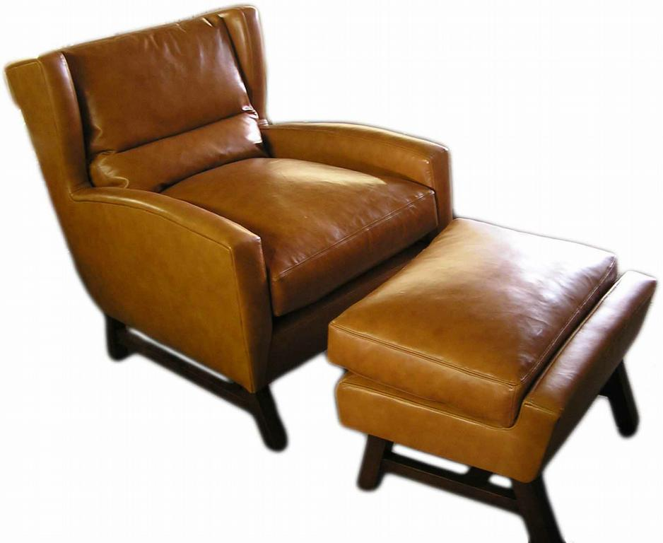 Wing chair with ottoman - Leather Wingback Chairs Leather Wing Back Chair