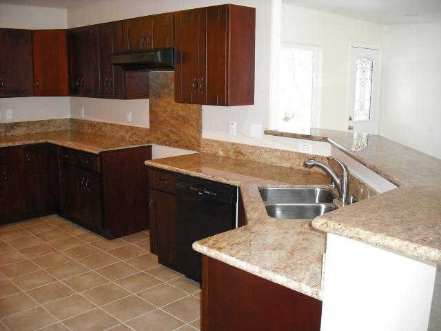 Cherry Cabinets With Granite