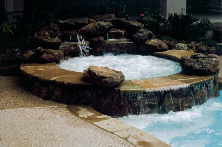 Natural Hot Springs Spa Waterfall From Outdoor Amenities