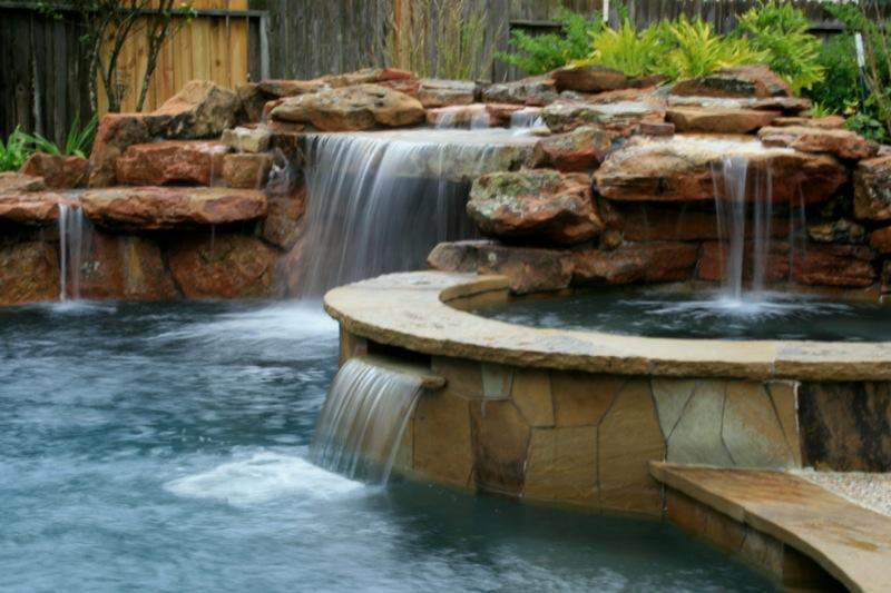 Water falls oasis from outdoor amenities pool co in for Outdoor furniture 77386