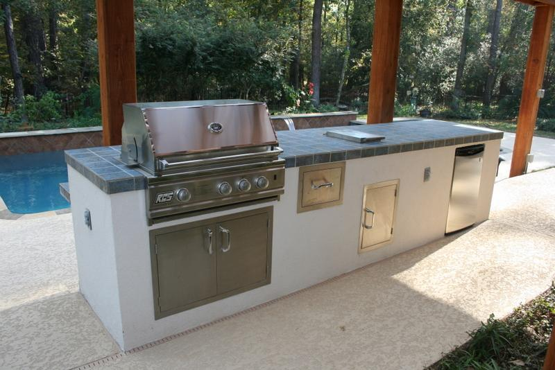 outdoor kitchen from outdoor amenities pool co in