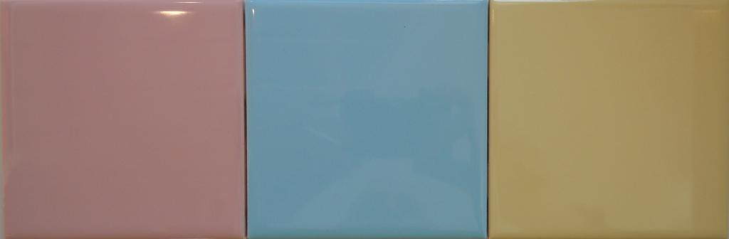 4x4 Ceramic Tile- Retro Pink-Blue-Yellow from Classic Tile ...