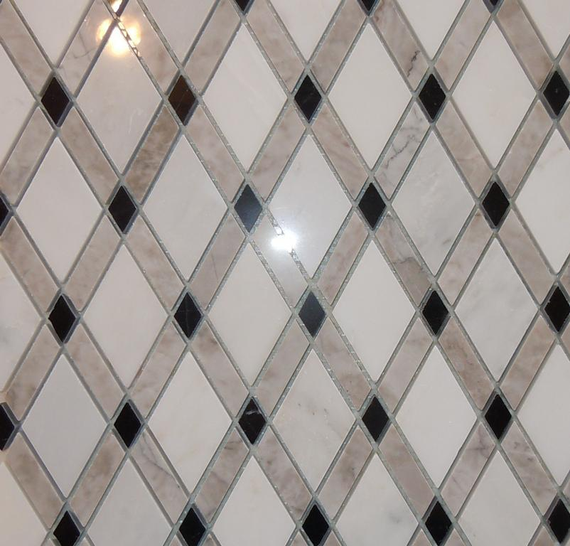 Lattice Rhomboid Tile Diamond Tile Marble Mosaic From