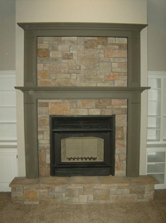 Stone Surround With Mantel And Overmantel With Stone From Alpine Fireplaces In Orem Ut 84097