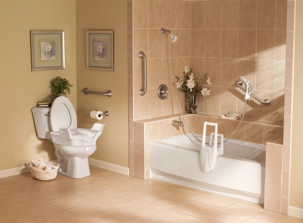 Elegant bathrooms total access of new england for Elegant small bathrooms