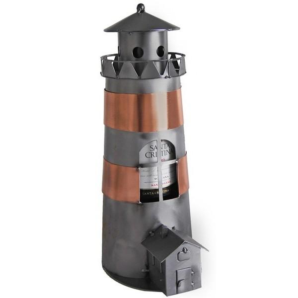 Lighthouse Wine Bottle Holder From Metal Imagination In