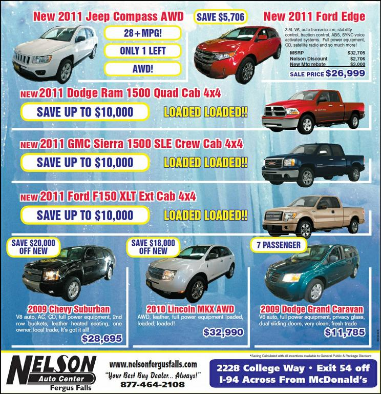 save thousands with great ford jeep dodge gmc deals in minnesota from nelson auto center in. Black Bedroom Furniture Sets. Home Design Ideas