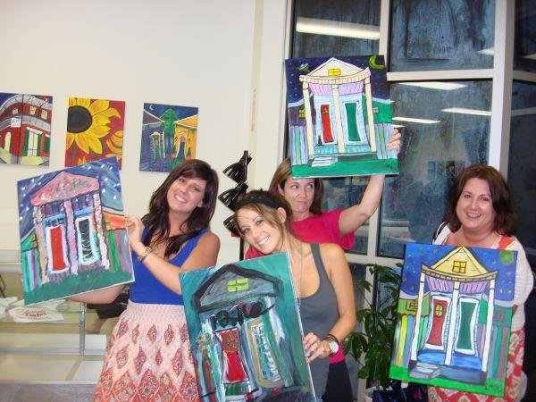 Class pic from painting with a twist san antonio in san for Painting with a twist san diego
