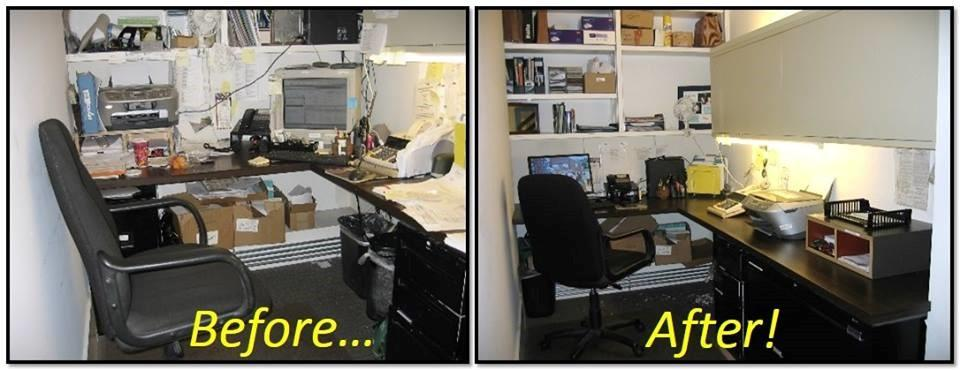 Re Freshened Desk Office Nook Before And After From The