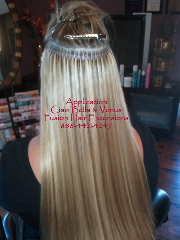 Applying Fusion Hair Extensions Triple Weft Hair Extensions