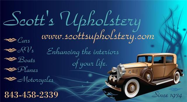 Business Card From Scotts Upholstery In Longs Sc 29568