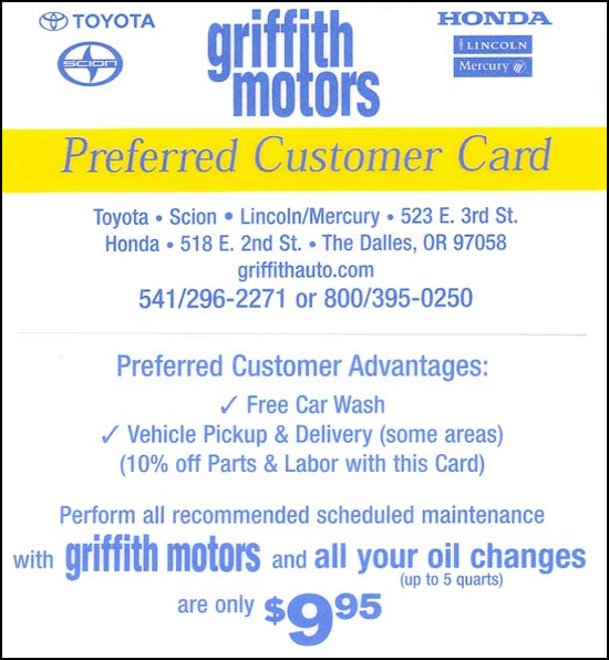 Griffith Toyota The Dalles Or 97058 866 648 2271