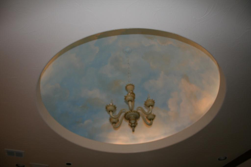 Ceiling dome clouds from artistic mural works san antonio for Artistic mural works