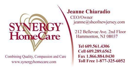 Synergy Homecare Hammonton Nj 08037 609 561 4306