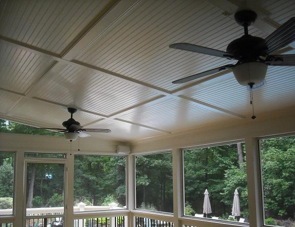 Bead Board Ceilings From Raleigh Decks Deck Amp Screen