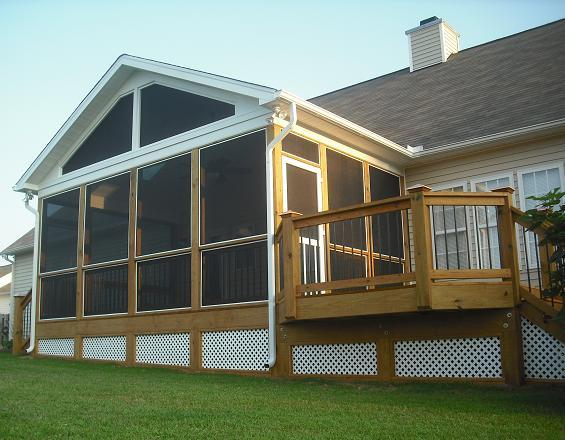 Pictures for raleigh decks deck screen porch builder for raleigh nc in wendell nc 27591 - Screen porch roof set ...