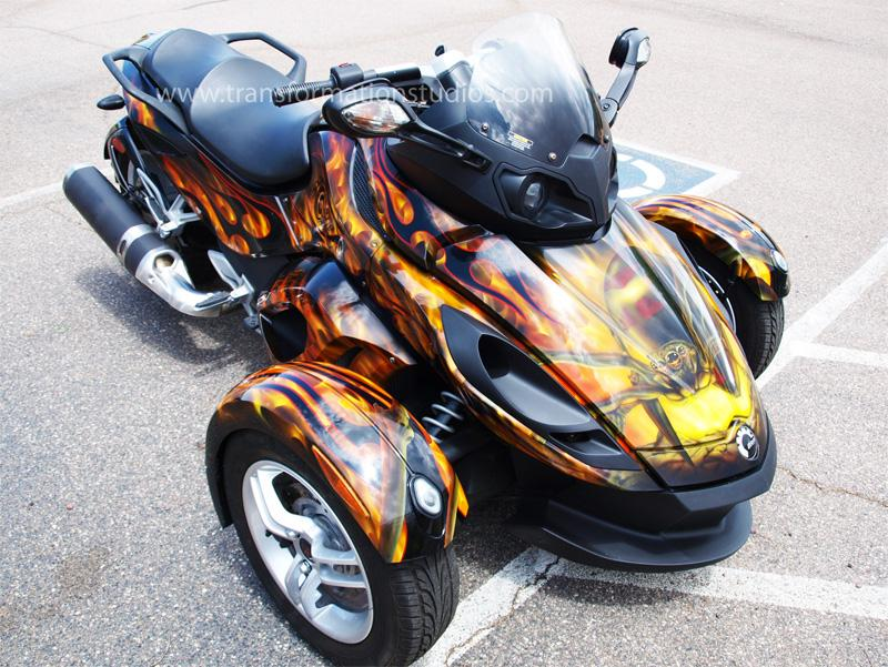 Custom Paint Spyder Motorcycle Custom Spyder Motorcycle