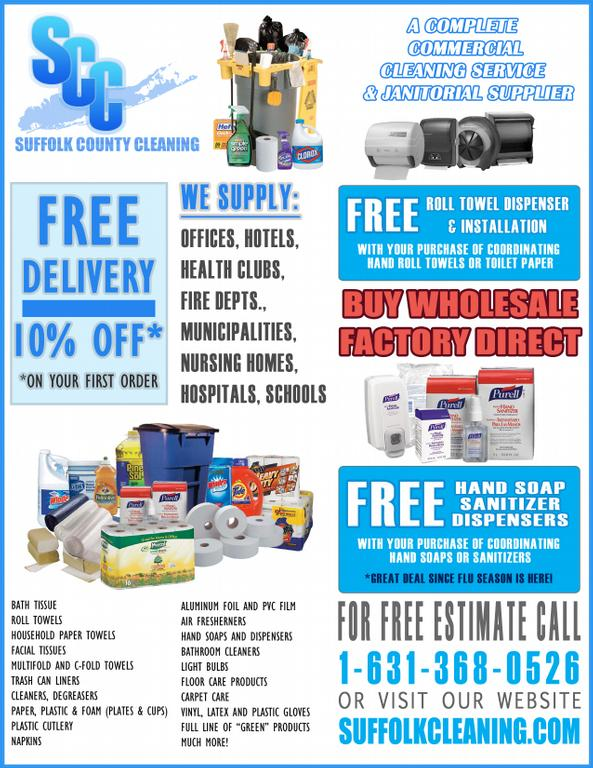 Janitorial Flyer by Suffolk County Cleaning, Inc.