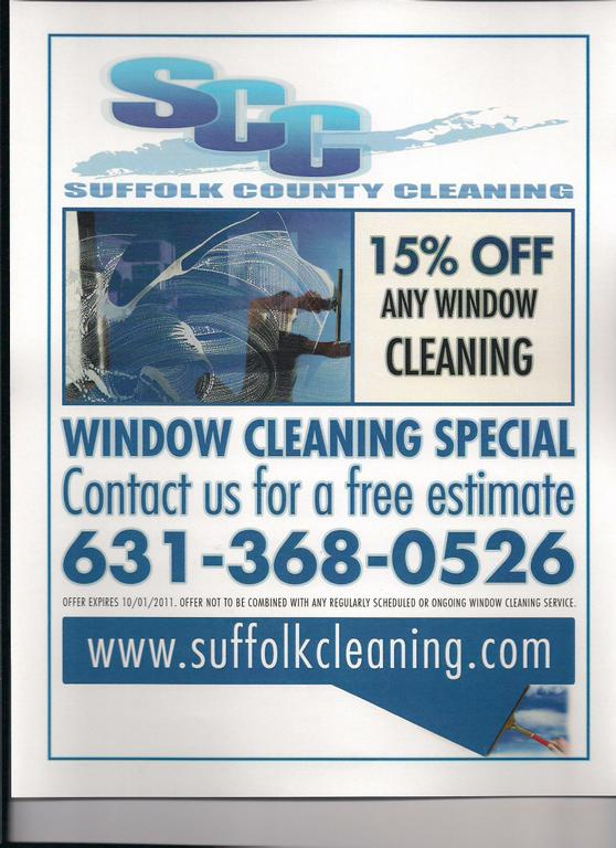 Window Cleaning Flyer 001 by Suffolk County Cleaning, Inc.