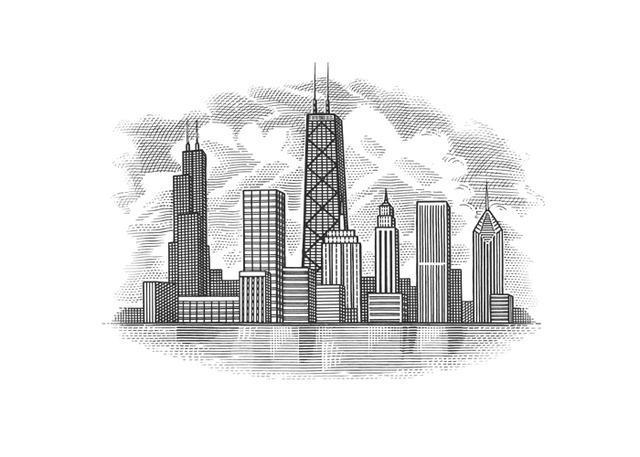 chicago skyline art - photo #35