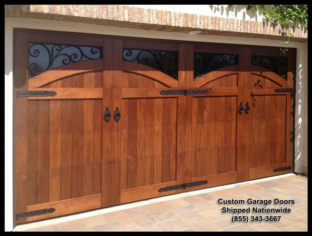 Mediterranean garage door designs in solid wood this door for Garage doors designs