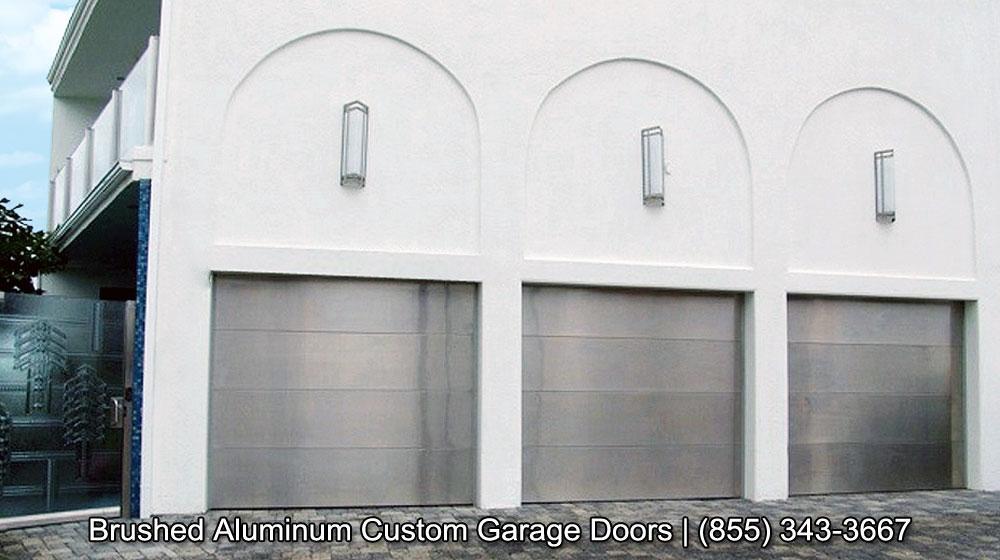 Contemporary Garage Doors In A Brushed Aluminum Finish | Get The Look Of Stainless  Steel Garage Door Today!