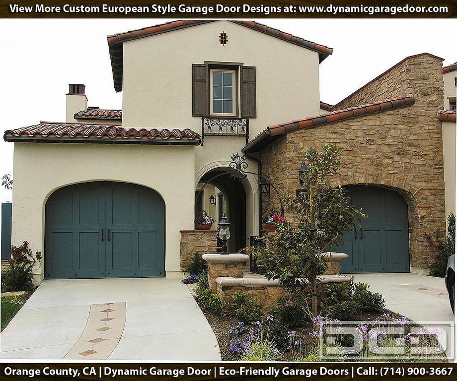 Teal colored custom garage door design in eco friendly for Custom garage designs