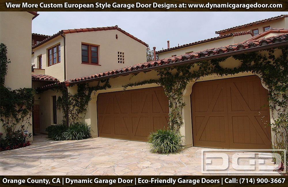Spanish Garage Door In A European Design Crafted Out Of