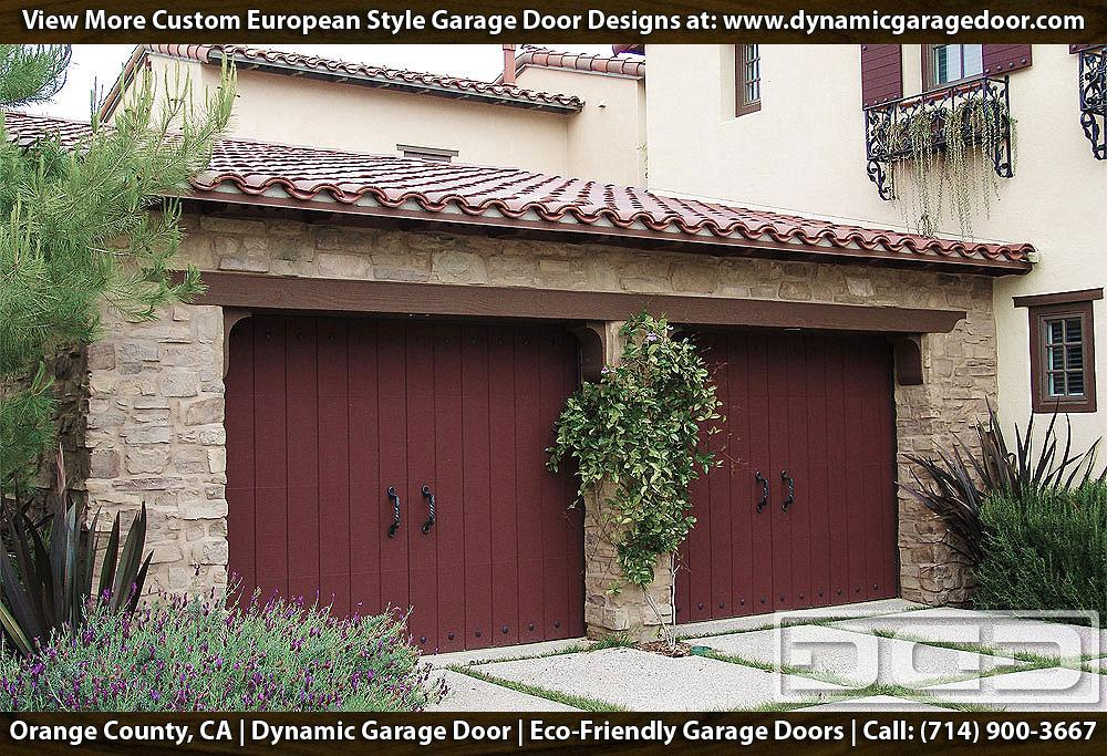European garage doors crafted in eco friendly composite for Garage door materials