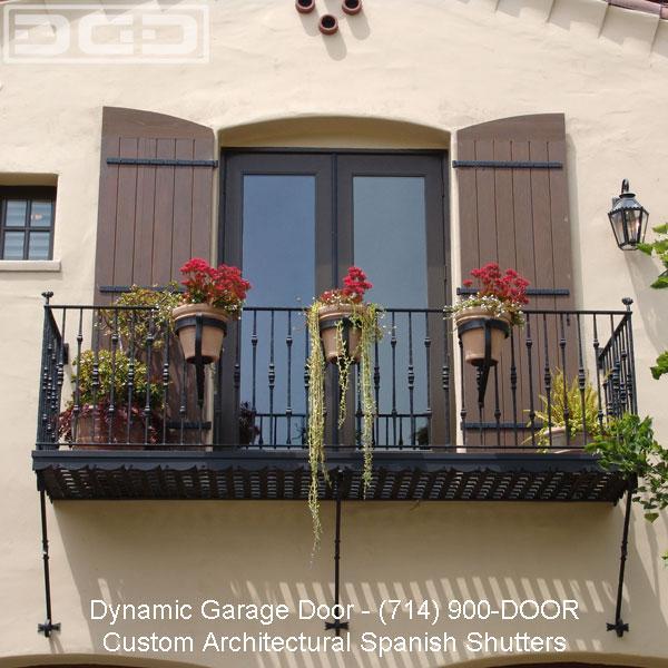 Balcony Doors Adorned With Custom Dynamic Garage Door