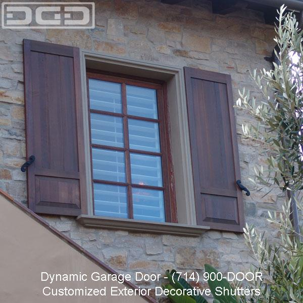 Designer shutters to complement your dynamic garage doors for European shutters