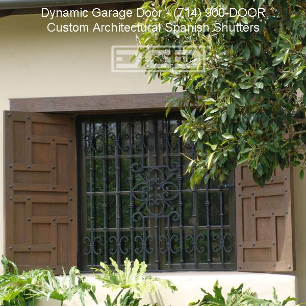 The mission style window shutter design complements for Spanish style window shutters